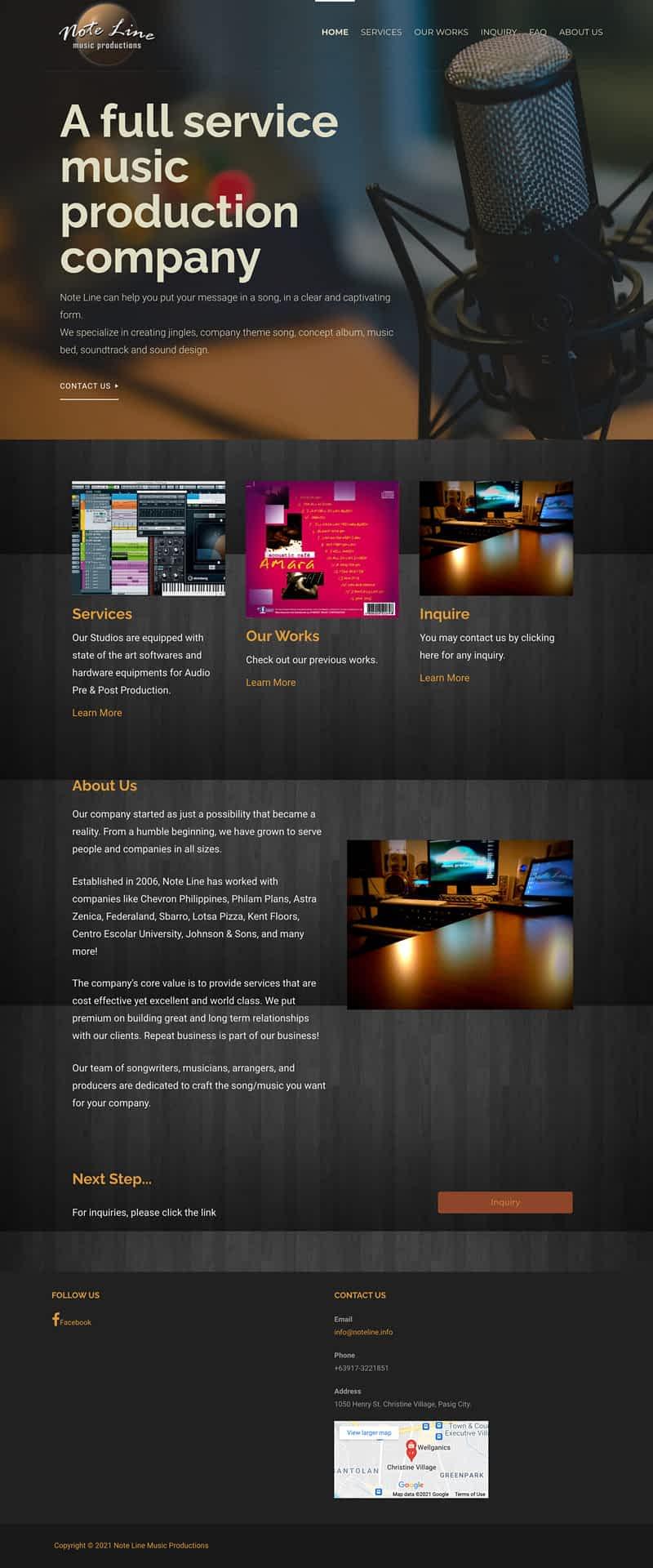 Nusic Production Website