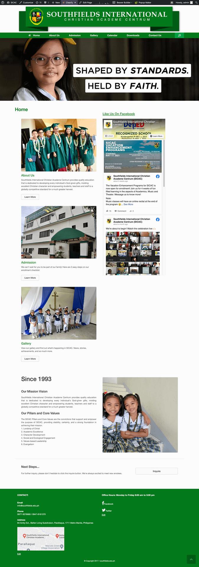 Portfolio Website of Southfields International School