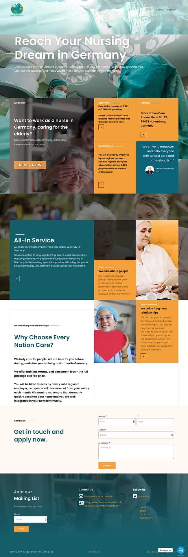 Manpower services Portfolio Website